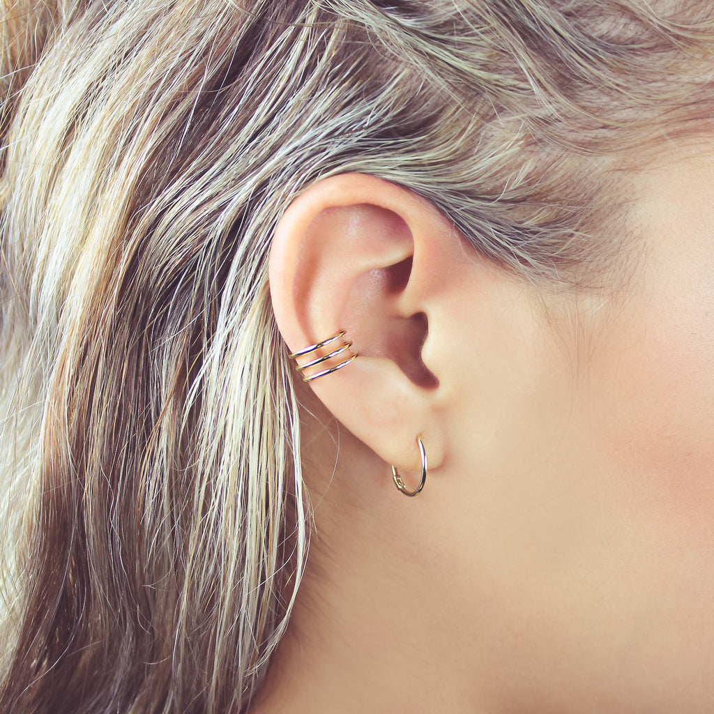 Triple Line Middle Ear Cuff