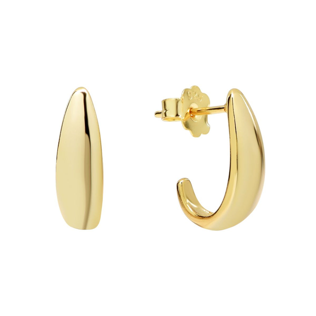 Gold Curved Chunky Studs