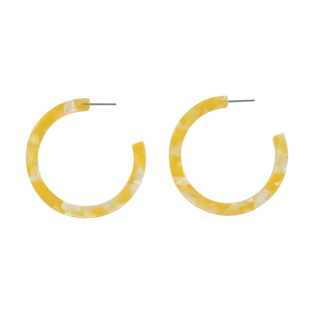 SALE - Yellow Lucite Hoops