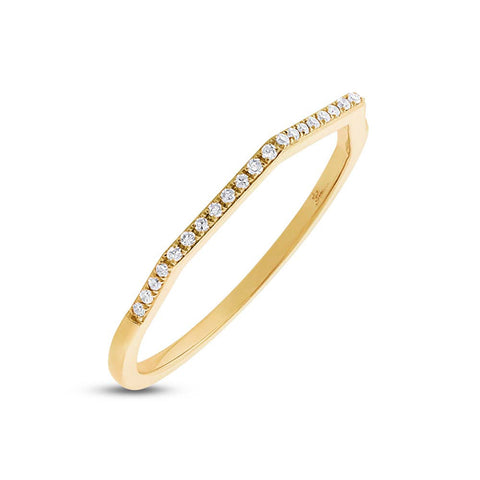 CZ Scallop Bezel Eternity Ring