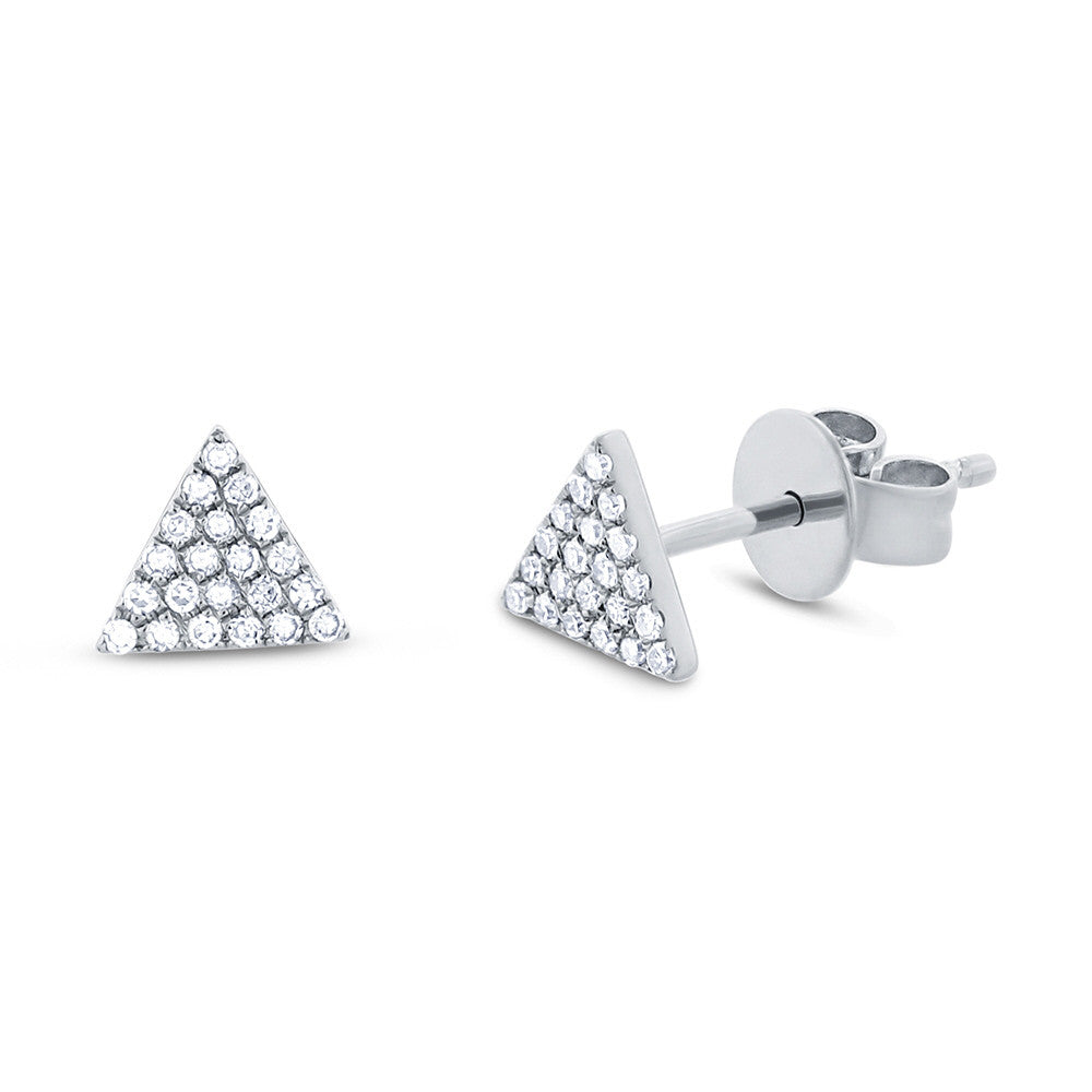 Diamonds Pave Triangle Stud Earring
