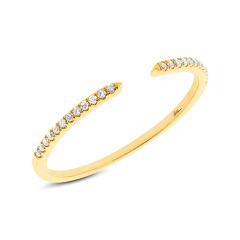 Diamonds Pave Half Way Band