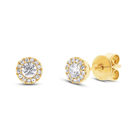 10K Solid Gold 1mm CZ Studs