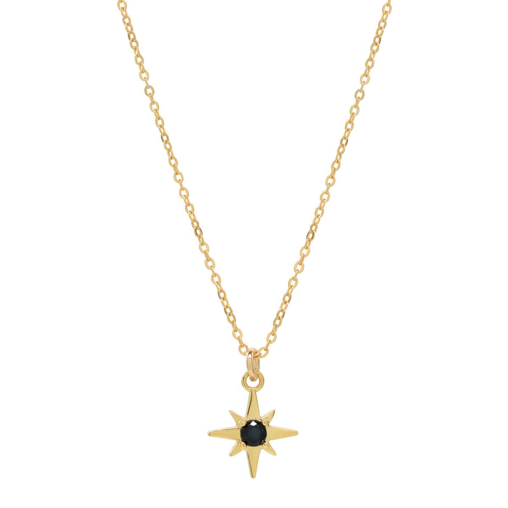 Black CZ Star Necklace
