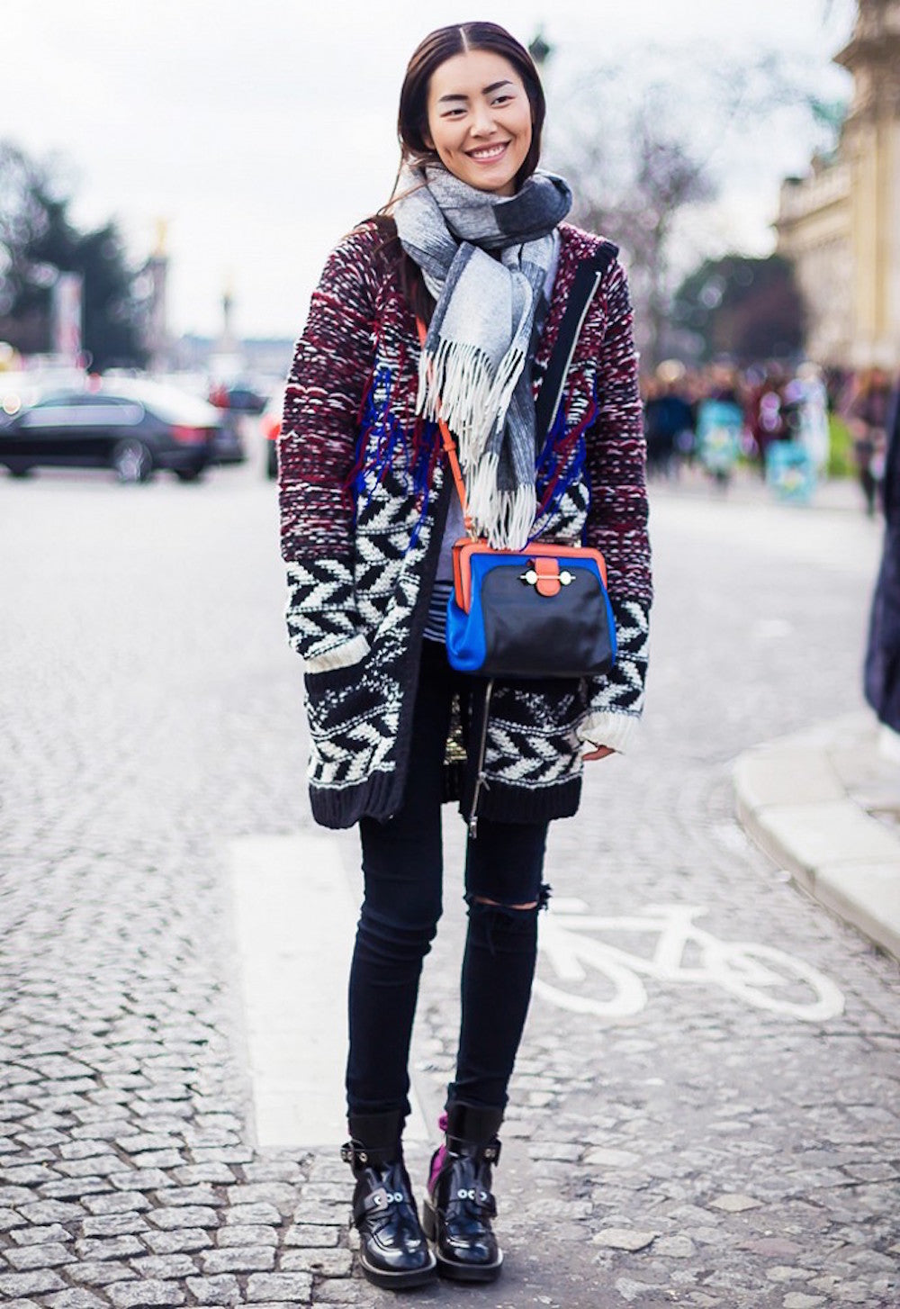 New York Fashion Week Spring 2015 Street Style - Liu Wen