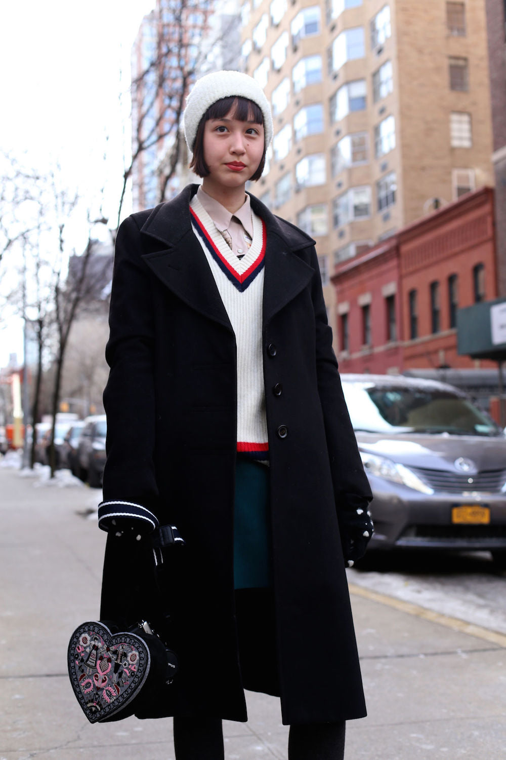 New York Fashion Week Spring 2015 Street Style - winter coat