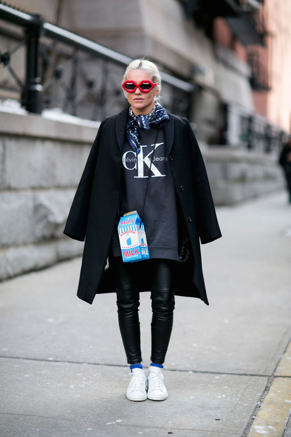 New York Fashion Week Spring 2015 Street Style - winter coat and statement bags