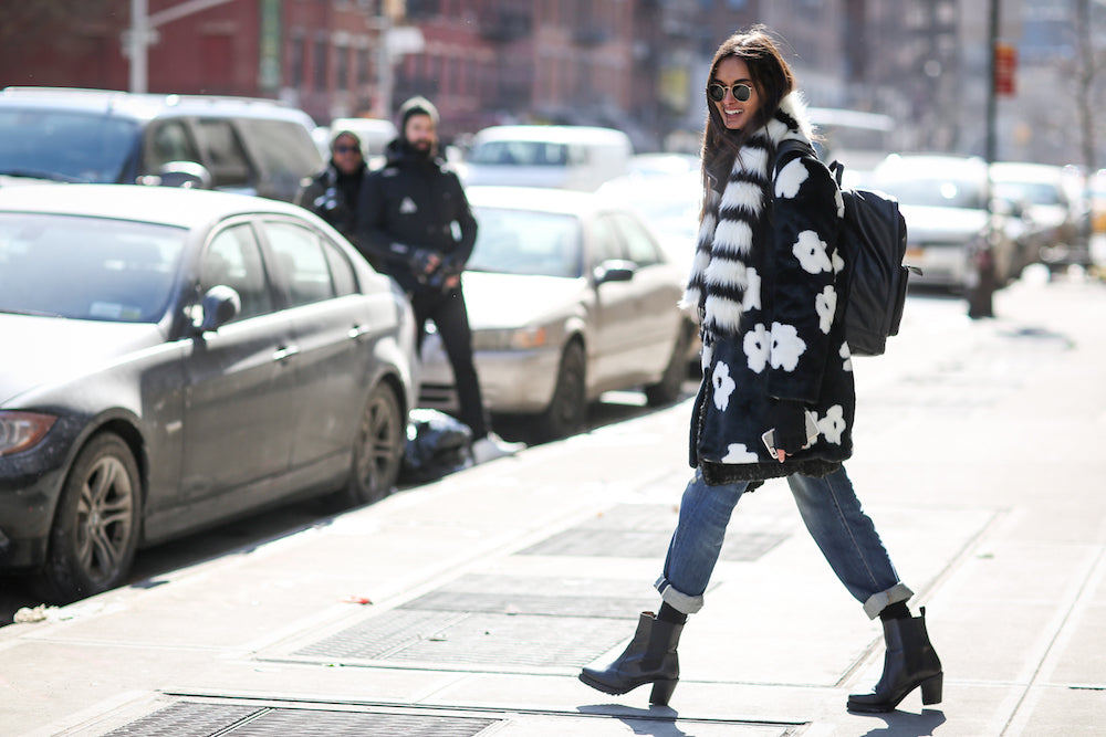 New York Fashion Week Spring 2015 Street Style - statement coat