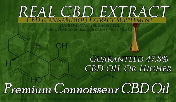 One Gram Premium Connoisseur CBD Oil 47.8 Percent CBD Full Spectrum Amazing Flavor and Potency