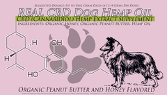 10ML CBD Pet Treatment CBD Oil With Peanut Butter And Honey