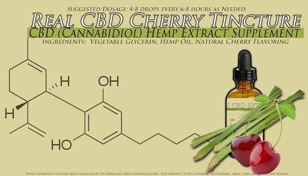 Three Bottles of One Ounce Bottles Cherry Flavored CBD Oil Tincture 1500MG CBD each Strongest Formula Available