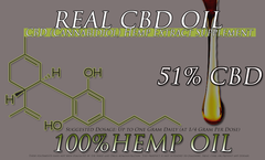 30 Gram Treatment Gram Tube of CBD Oil Made with Organically Grown Top Quality Strains 51% CBD