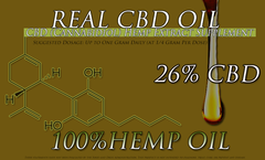 10 Gram Tube of 26%  CBD Hemp Oil Treatment