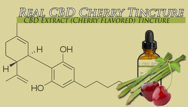 One Ounce Bottle Cherry Flavored CBD Oil Tincture 1500mg  Strongest Formula Available
