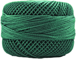 Perle Cotton: 4368 Dark Emrald Green