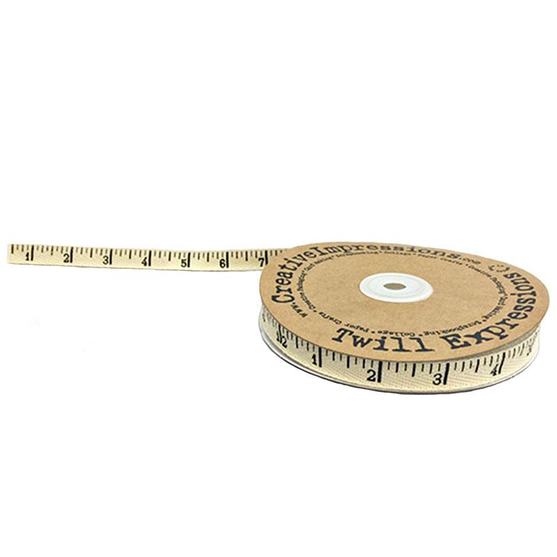 Inch Tape Measure Ribbon - Natural Twill Tape