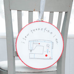 I Sew Therefore I am Printed Pattern w/ Iron Transfer - Stitch Supply Co.  - 2