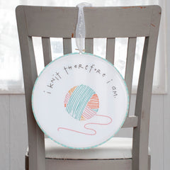 I Knit Therefore I am Printed Pattern w/ Iron Transfer - Wholesale - Stitch Supply Co.  - 2