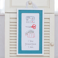 I Sew Therefore I am Printed Pattern w/ Iron Transfer - Wholesale - Stitch Supply Co.  - 3