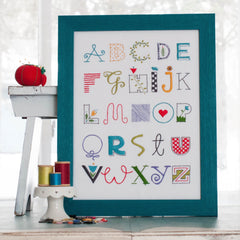 Alphabet Sampler Printed Pattern w/ Iron Transfer - Stitch Supply Co.