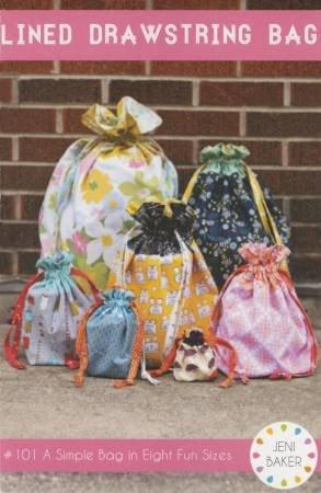 Lined Drawstring Bag by Jeni Baker