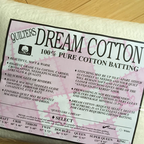 Quilters Dream Cotton Batting - Select, White - Stitch Supply Co.