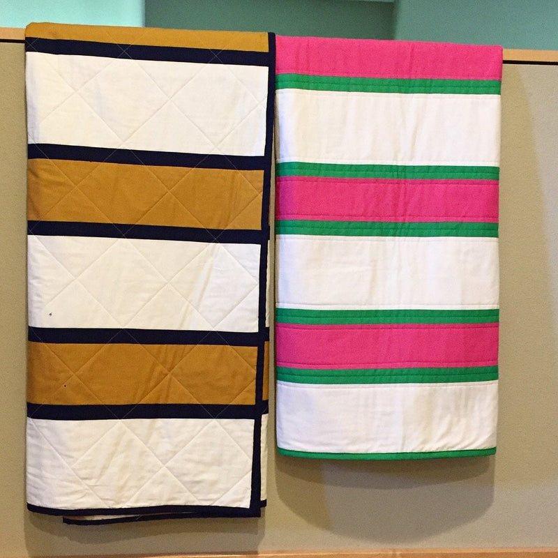 Rugby Stripe Quilt Top