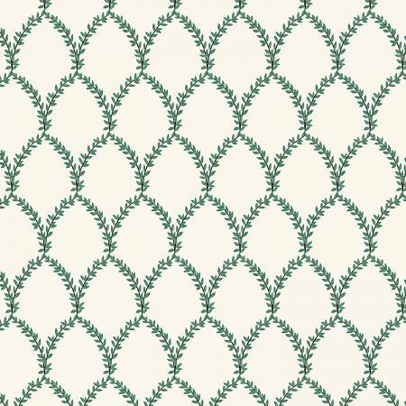 Strawberry Fields: Laurel in Green and Cream