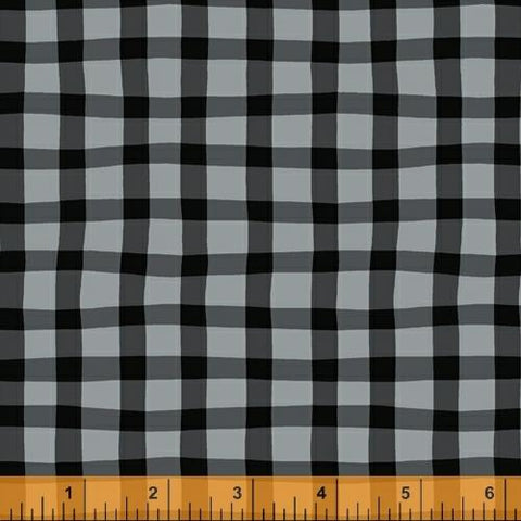 A to Zoo: Loose Gingham in Gray and Black