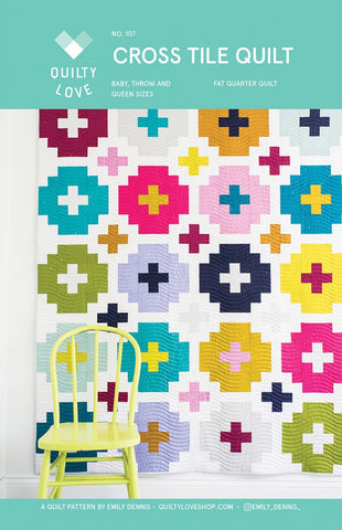 Cross Tile Quilt Pattern