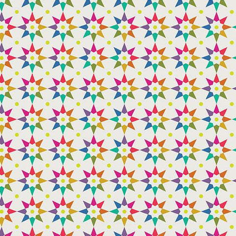 Art Theory: Rainbow Star in White