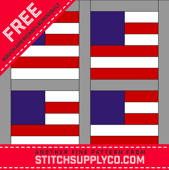 Quick American Flag Mini Quilt Pattern