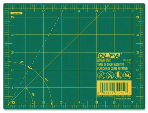 "Olfa 6"" by 8"" Cutting mat"