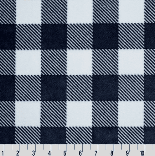 "Cuddle 58/60"" in Buffalo Check Navy"