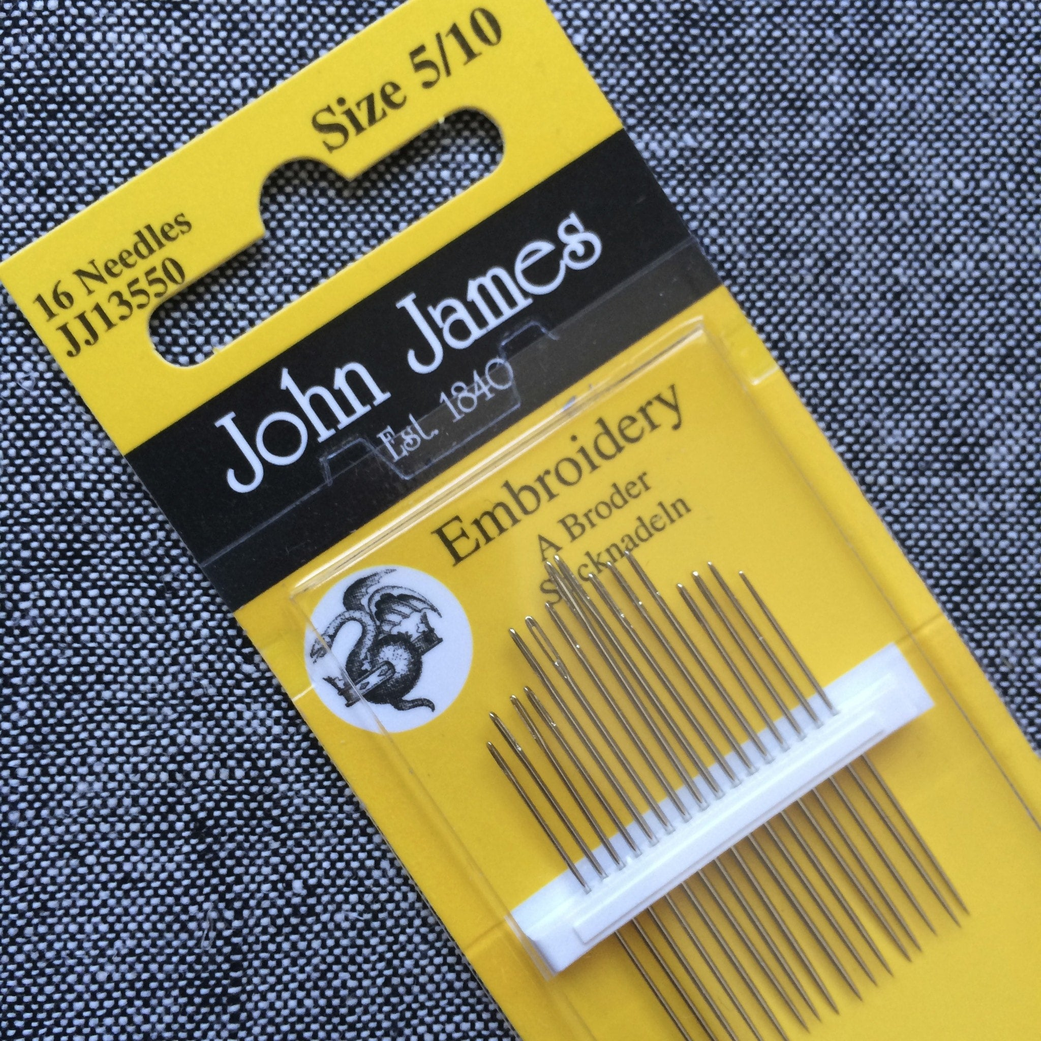 John James Needles 5/10 - Stitch Supply Co.