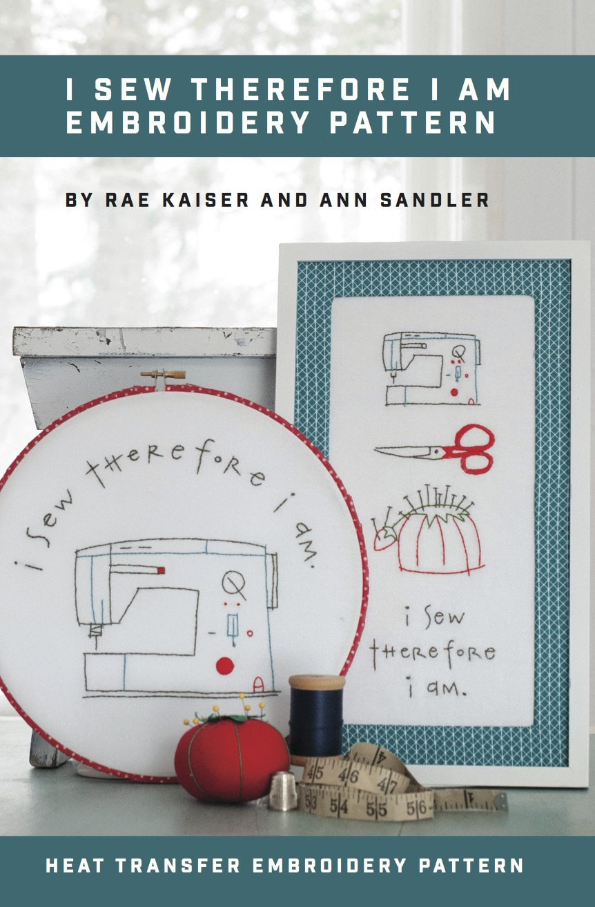I Sew Therefore I am Printed Pattern w/ Iron Transfer - Stitch Supply Co.  - 1