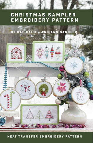 Christmas Sampler Printed Pattern w/ Iron Transfer - Stitch Supply Co.  - 1