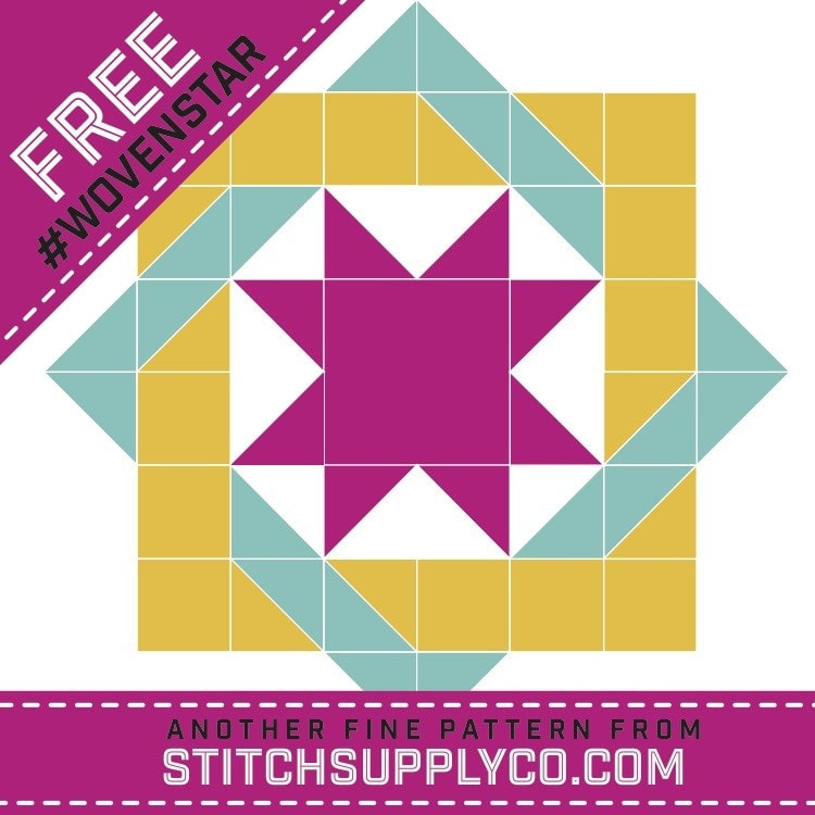 Woven Star Mini Quilt Pattern - Stitch Supply Co.