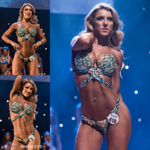 Green WBFF Couture Competition Bikini Sydney 2018