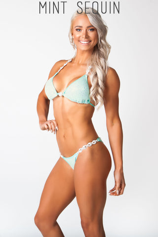 mint fitness competition bikini, Lauren simpson