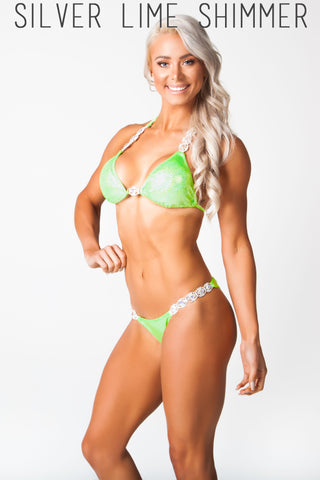 Green fitness competition bikini, Lauren simpson