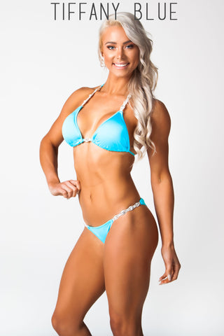 light blue fitness competition bikini, Lauren simpson