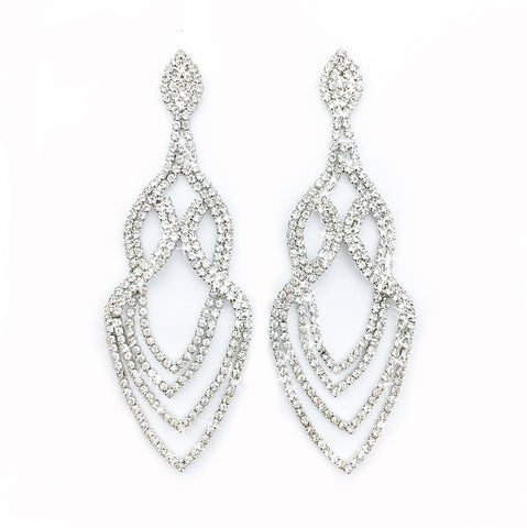 Bikini Competition Jewellery rhinestone statement earrings