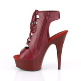 DELIGHT-600-20 Burgundy Faux Leather/Burgundy Matte