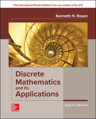 DISCRETE MATHEMATICS AND ITS APPLICATIONS 8TH EDITION