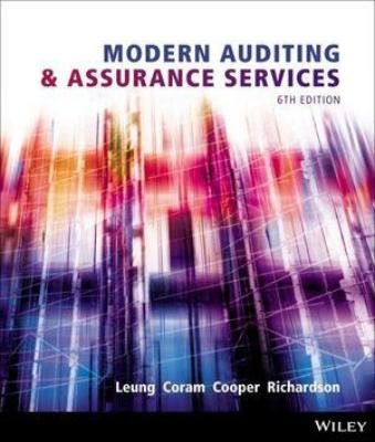 MODERN AUDITING AND ASSURANCE SERVICES 6TH EDITION