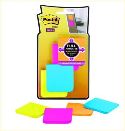 3M POST-IT SUPER STICKY FULL ADHESIVE NOTES ULTRA COLOUR 4 PADS
