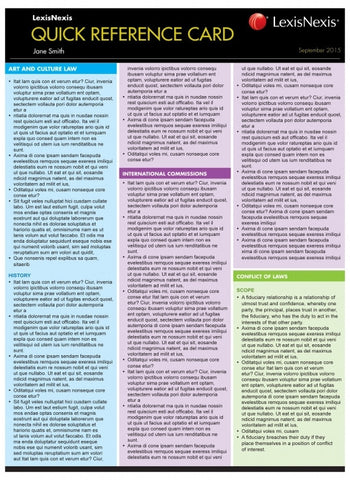 INCOME TAX I QUICK REFERENCE CARD - Charles Darwin University Bookshop