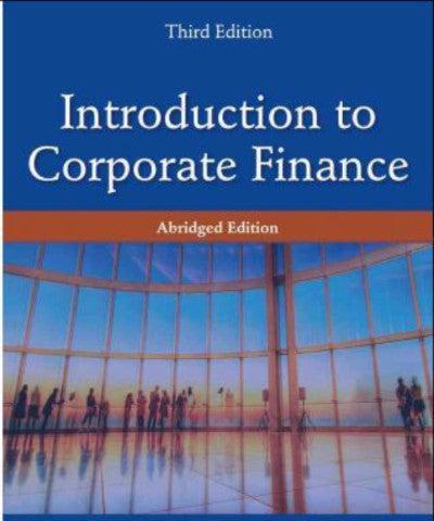 INTRODUCTION TO CORPORATE FINANCE ABRIDGED VERSION - Charles Darwin University Bookshop