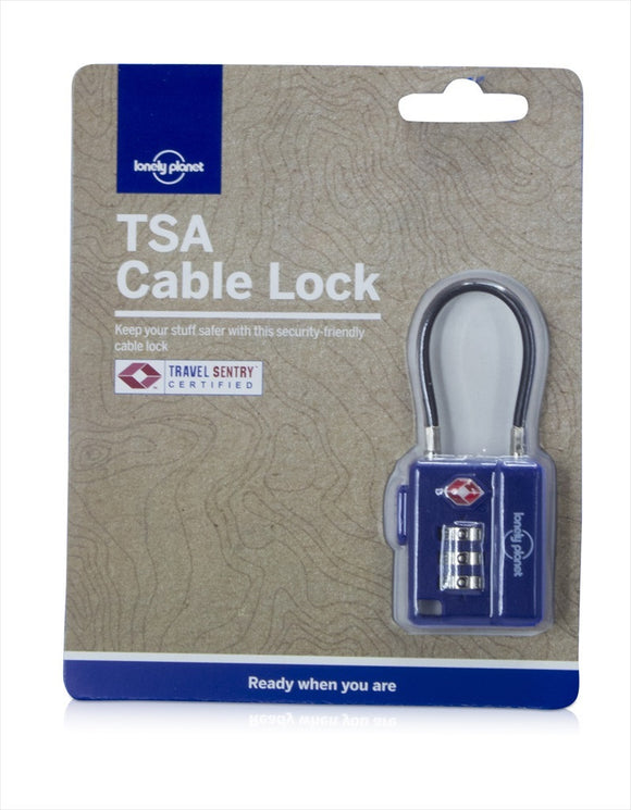 TSA CABLE LOCK BLUE - Charles Darwin University Bookshop